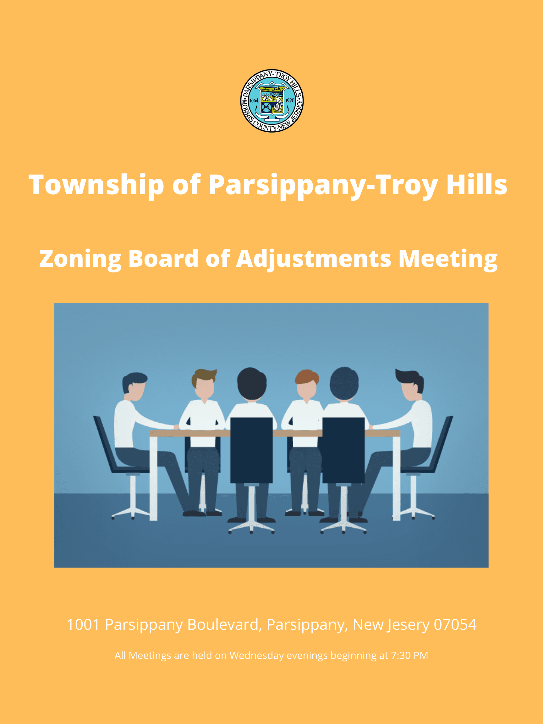 Township of Parsippany-Troy Hills Zoning Board of Adjustment Meeting