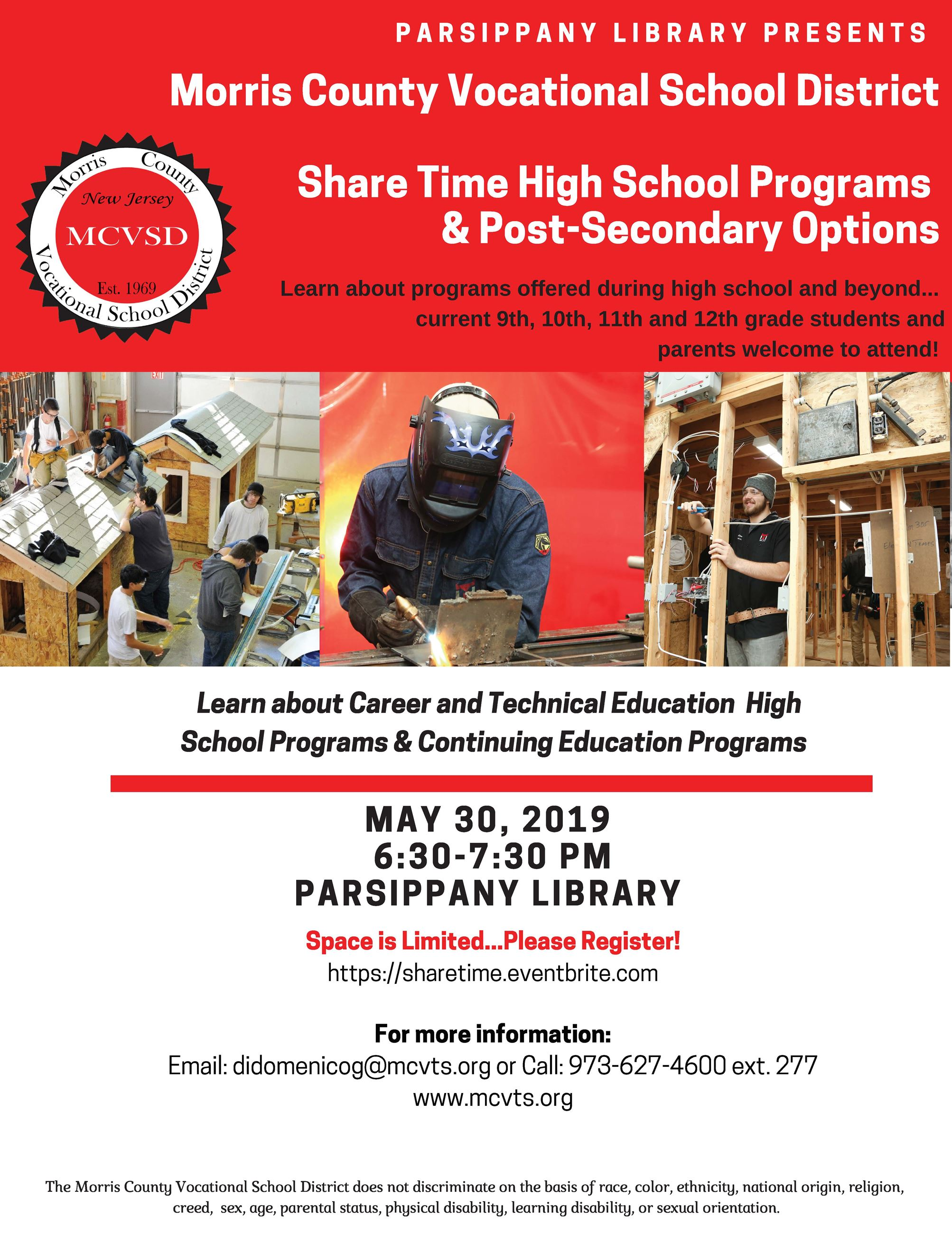 Parsippany Library - MCVSD May Info Session